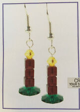 Jilly Bead Crystalmas Candle Earrings Jewelry Making Kit