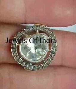 Handmade Jewelry Natural Rose Cut Diamond & Polki 925 Sterling Silver Ring