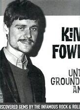 "SEALED vinyl LP by KIM FOWLEY ""Underground Animal"" 16 wild tracks LOW PRICE WOW!"