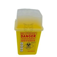 1L Sharps Container Bin Needles Biohazard Infectious Medical Tattoo Piercing
