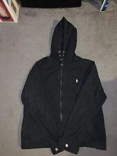 Polo Ralph Lauren Shell Coat Jacket Black Mens Large Used