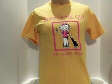 SCRAPBOOK GIRL (EAT,SLEEP, SCRAP) T-SHIRT (SMALL) YELLOW-SCRAPBOOKING-RARE