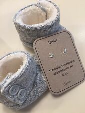 Mummy To Be Baby Shower Gift Sterling Silver Personalised Earring Gift. Saccos