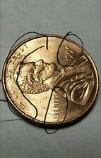 New listing 1991 Penny Error (Grease Struck)#15G