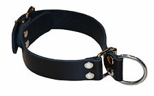 Halsband Dressurhalsband Würgehalsband BDSM Fetisch echt Leder schwarz neu