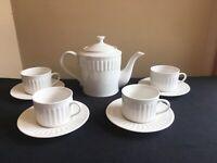 American Atelier OLYMPIA 10-pc Tea Set #5285 (Teapot & 4 Cups & 4 Saucers); EUC!