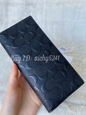 Coach F75365 Breast Pocket Wallet In Signature Leather Black