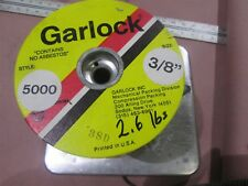 "Garlock 5000 3/8"" Compression Packing Partial Roll 2.6 LB Carbon Yarn"