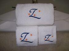 Embroidered Personalised Bath Towel Set-Bath Towel, Hand Towel and Wash Cloth