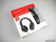Gembird MHS-5.1VU-001 Surround USB Headset mit Bass-Vibration in schwarz/rot NEU