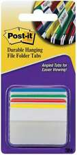 Post It Durable Filing Tabs 2x15 24pkg Assorted Primary Color 021200506710