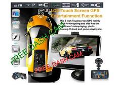 "Car Navigation 5""Hd+Wireless Reverse Camera+Free 3.5""screen dashcam+4 Free Gift"