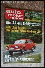 AMS Auto Motor Sport 20/69 BMW 2800 DB 250 AMG VW 411 LE VW Käfer