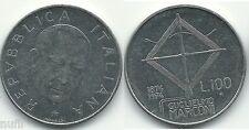 Italy Italy 100 Lire, 1974, Centenary Marconi km#102