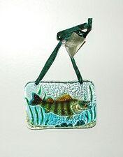 Fish, Fishing Glass Sun Catcher Christmas Ornament