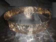 cintura METALLO martellato BAGNO argento schiava  alta 4,5 cm ANCHE SU MISURA