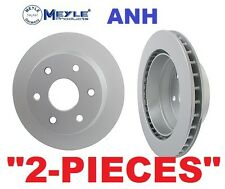Set of 2  Meyle  Anti Rust Coated Brake Rotors Chevrolet Express 1500