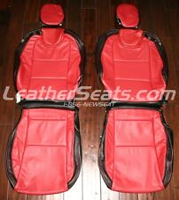 2010 - 2015 Chevy Camaro Coupe or Convertible Leather Seat Covers Black and Red