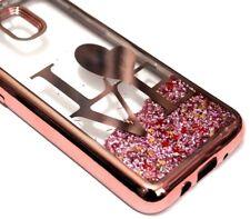 For Samsung Galaxy J3 2018 / Achieve - Rose Gold Love Glitter Heart Liquid Case