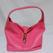 Dooney And Bourke Logo Lock Shoulder Bag Bubble Gum Pink Purse Leather Hobo
