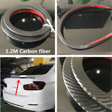 Carbon Fiber Universal Spoiler Rubber Car Rear Roof Trunk Molding Lip Wing 1.2M