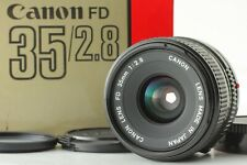 【Near Mint w/case】 Canon NEW FD NFD 35mm f/2.8 MF Wide Angle Lens From Japan