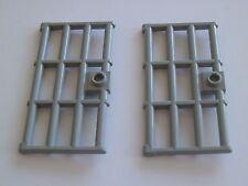 LEGO 60621# 2x porta cancello 1x4x6 GRIGIO NUOVO GRIGIO CHIARO 79004 7187 7097