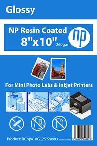 8x10 Gloss Premium 25 Sheets Photo Paper 260gsm