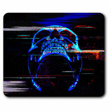 Computer Mouse Mat - Digital Glitch Art Neon Skill Office Gift #21459