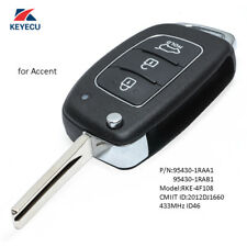 Replacement Remote Key Fob 433MHz ID46 for Hyundai Accent 2013-2015 95430-1RAA1