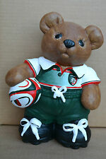Leicester Tigers Rugby Union Bear Figure Premiership Birthday Gift Personalised