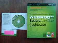 WEBROOT SecureAnywhere Antivirus 2013 3 Devices, FREE UPGRADE to 2020!