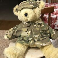 """Vintage 1989 US Army Bear Forces Of America Teddy Bear Plush Green Fatigues 17"""""""