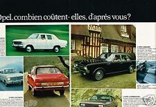 C- Publicité advertising 1968 (2 pages) Opel Kadett Caravan Olympia Commodore
