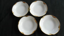 """Vintage J & C Louise Bavaria Set of 4 Fruit Bowls Gold Daub Rim 5 1/4"""" diameter"""