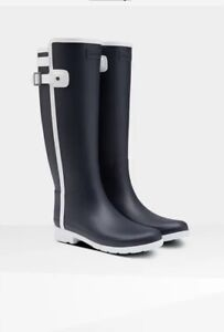 Women's Refined Slim Fit Contrast Tall Rain Boots: Navy/White Size 7 Sold Out