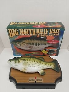Big Mouth Billy Bass Singing Fish Original Box 1998 **READ** Needs Repair