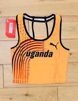 Puma Damen pro Elite Uganda 2011 Ausschnitt Laufshirt Neu GRÖSSE XS und S