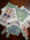 Lot 9 United States MNH blocks, coils, multiples and singles about $101.00 face