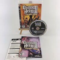 Guitar Hero III: Legends of Rock (Sony PlayStation 3, 2007 PS3) w/ Both Manuals