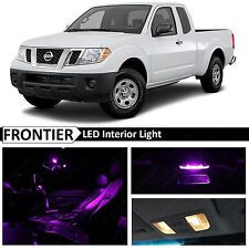 7x Purple Interior LED Lights Package for 2005-2016 Frontier + TOOL