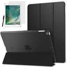 Smart Cover f. Apple iPad 9.7 2017 New Kunstleder Schutzhülle+Folie Schwarz-3