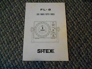 Old Vintage SI-TEX Marine FL-8 Fish Finder Depth Finder Book Instructions Guide