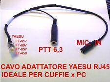 ADATTATORE RJ-45 DA RADIO YAESU A CUFFIA MICROFO PC FT-897 FT-991 FT-857 FT-817