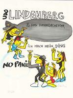 """Farbsiebdruck Udo Lindenberg """"Neuheit Mai 21""""handsigniert im Galerierahmen"""
