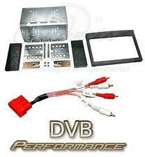 Porsche Boxster Gen 1 Double Din Stereo Fitting Kit Black and Amplifier Adaptor