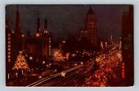 Hollywood CA, Hollywood Boulevard Parade Stars, Chrome California c1954 Postcard