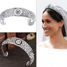 Rhinestone Crystal Meghan Wedding Crown Queen Mary Bandeau Tiara CE