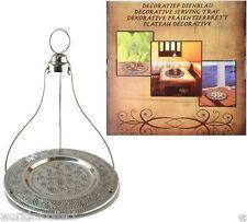 Orientalische Dekorativ Presentierbrett Servierplatte Metall Tablett Antik look