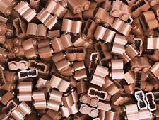 Lego - 25 x Reddish Brown Log Brick 1x2 30136 - Castle Fort City Pirate New Wood
